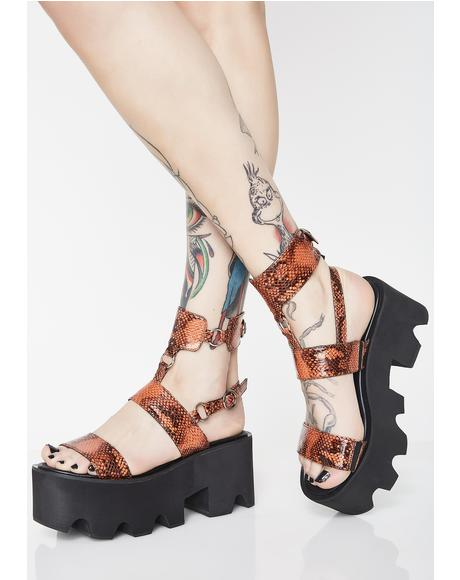 Poisonous Bite Snake Sandals
