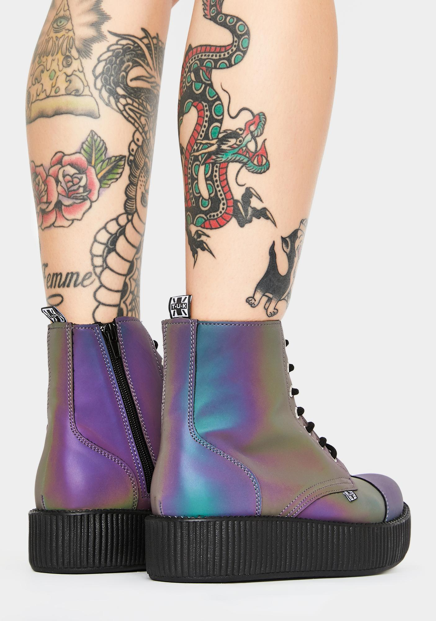 T.U.K. Midnight Chameleon Reflective Viva Mondo Boots