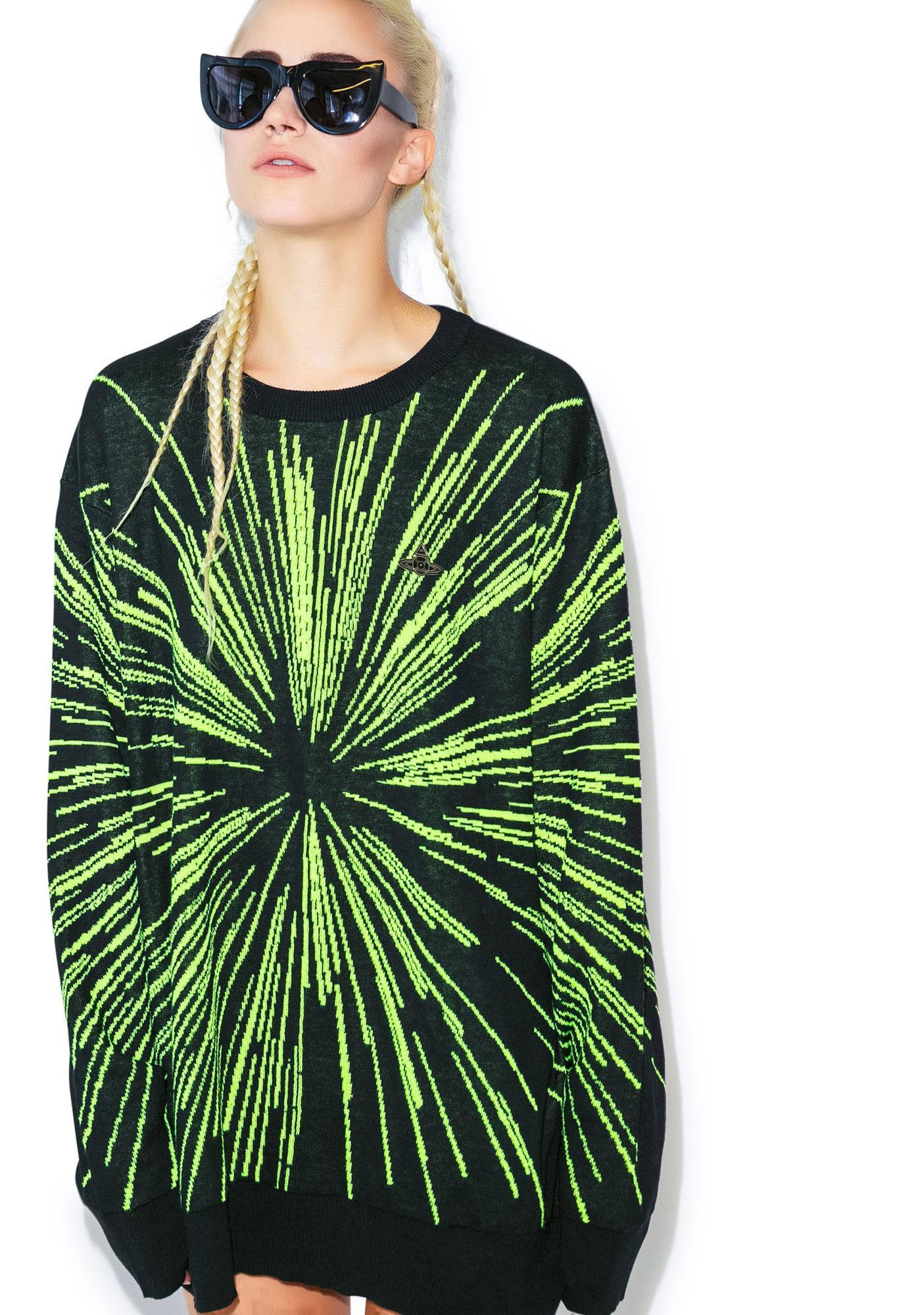 Lip Service Lightspeed Intarsia Pullover Sweater