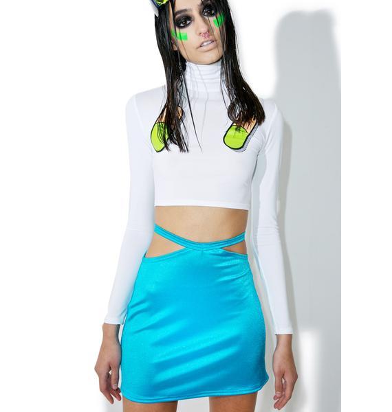 American Deadstock Peep Show Mini Skirt