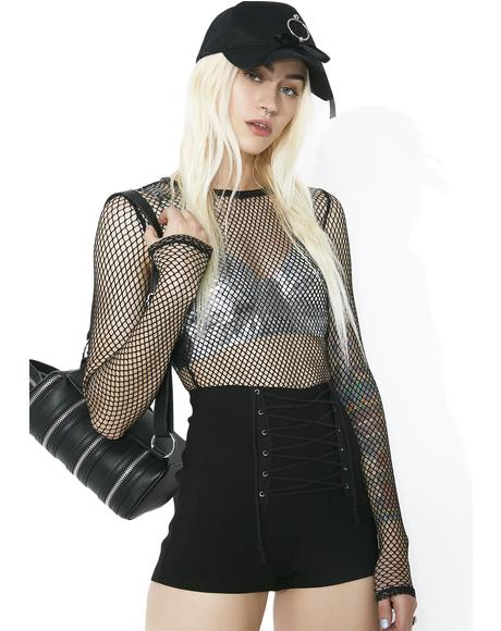 Hell's Bells Lace-Up Shorts