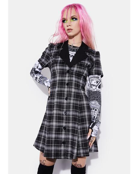 Night You Don't Exist Plaid Dress