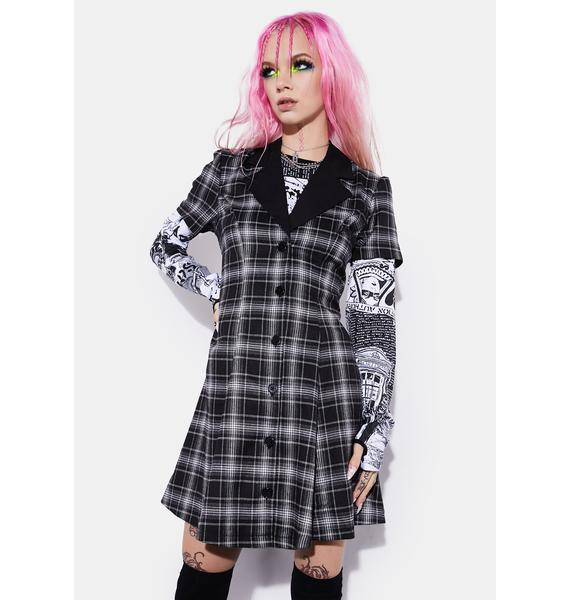 Current Mood Night You Don't Exist Plaid Dress