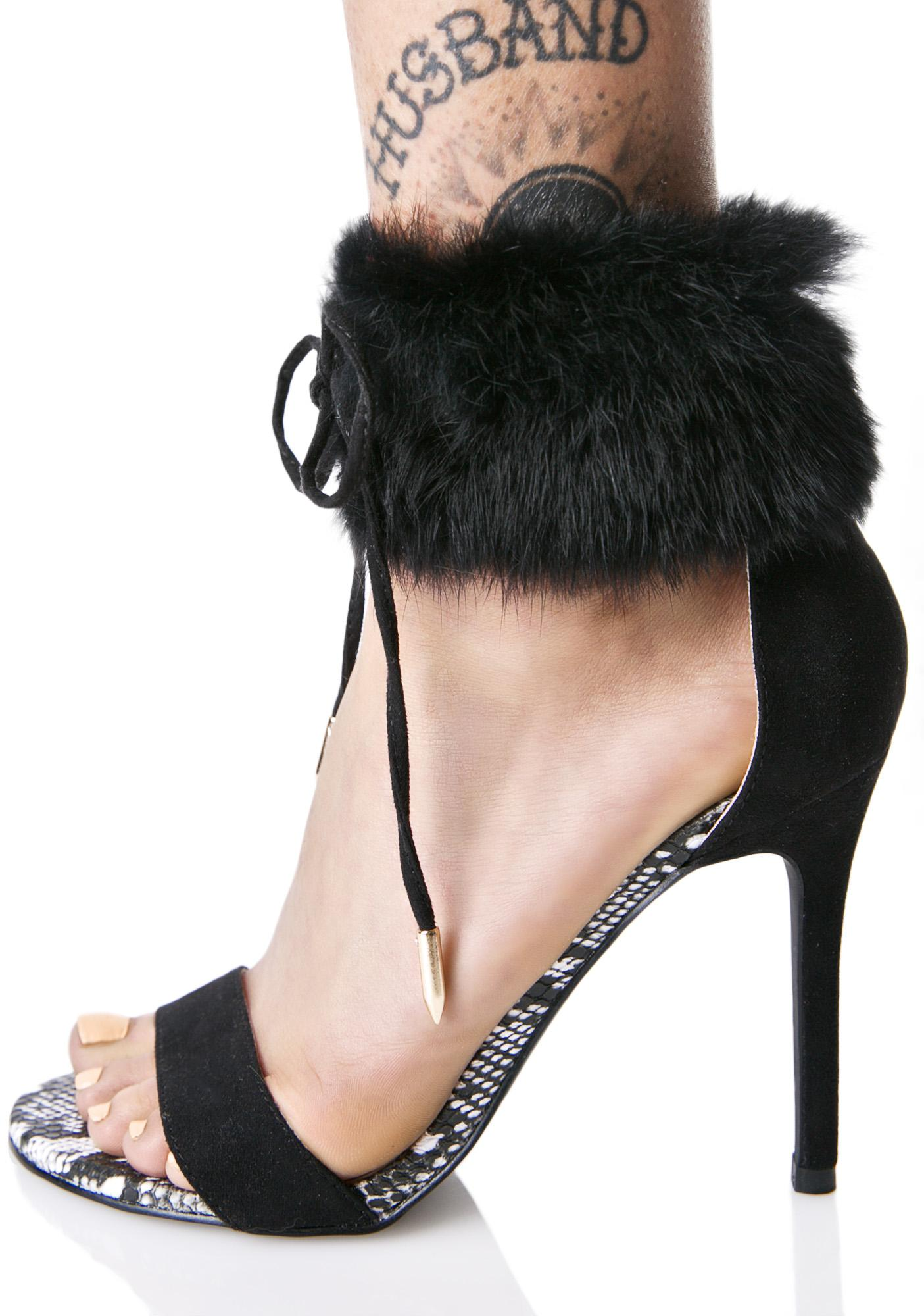 Sasha Night Fluffy Heels
