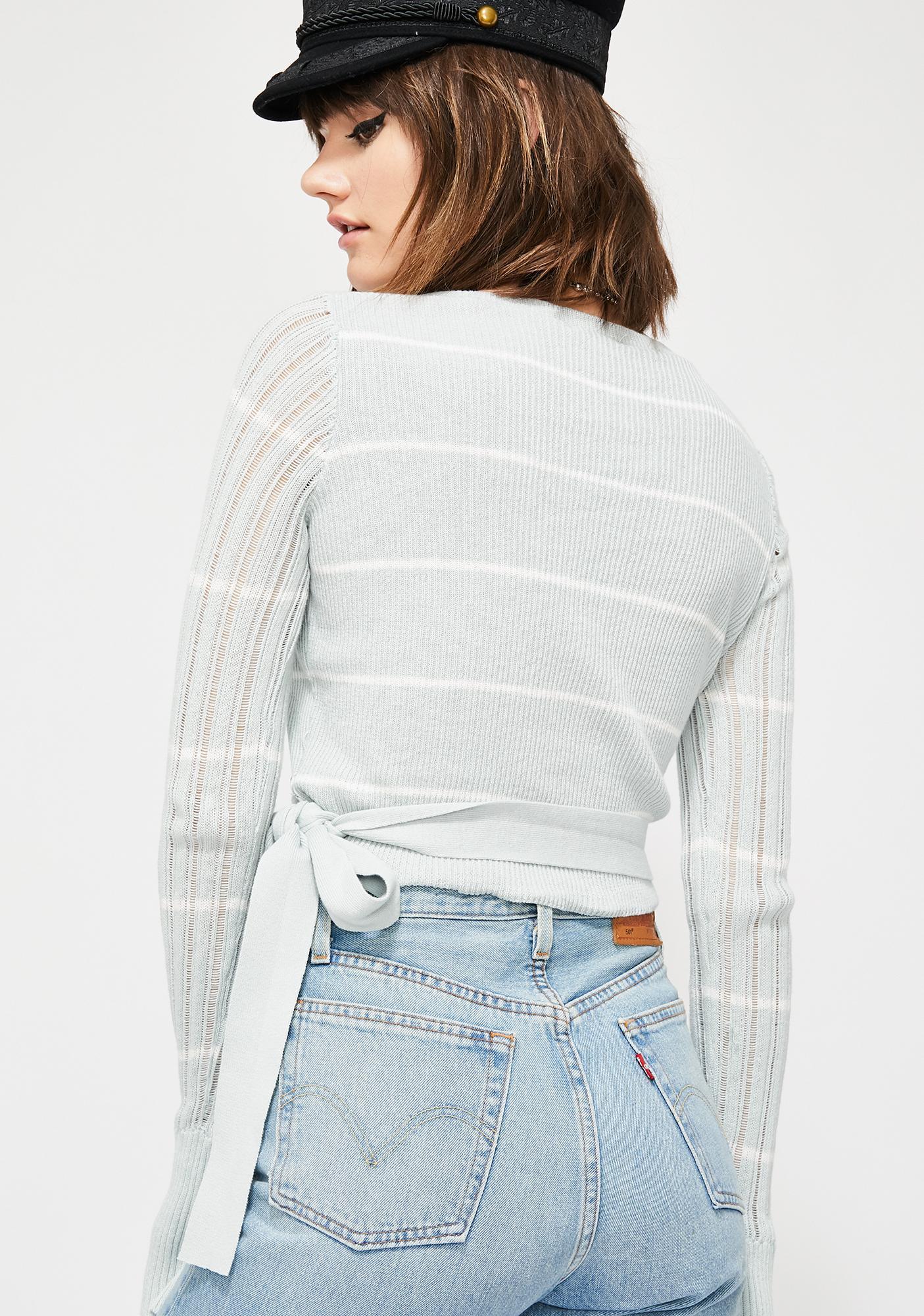Dream On Wrap Sweater