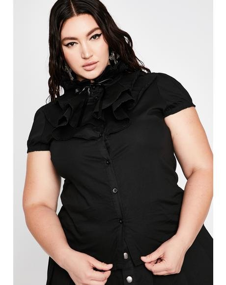 Plus Lorai Ruffle Shirt