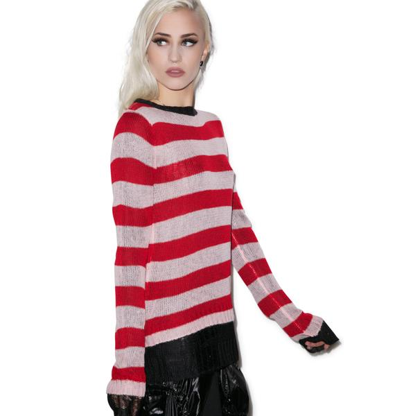 Tripp NYC Reverse Stripe Sweater