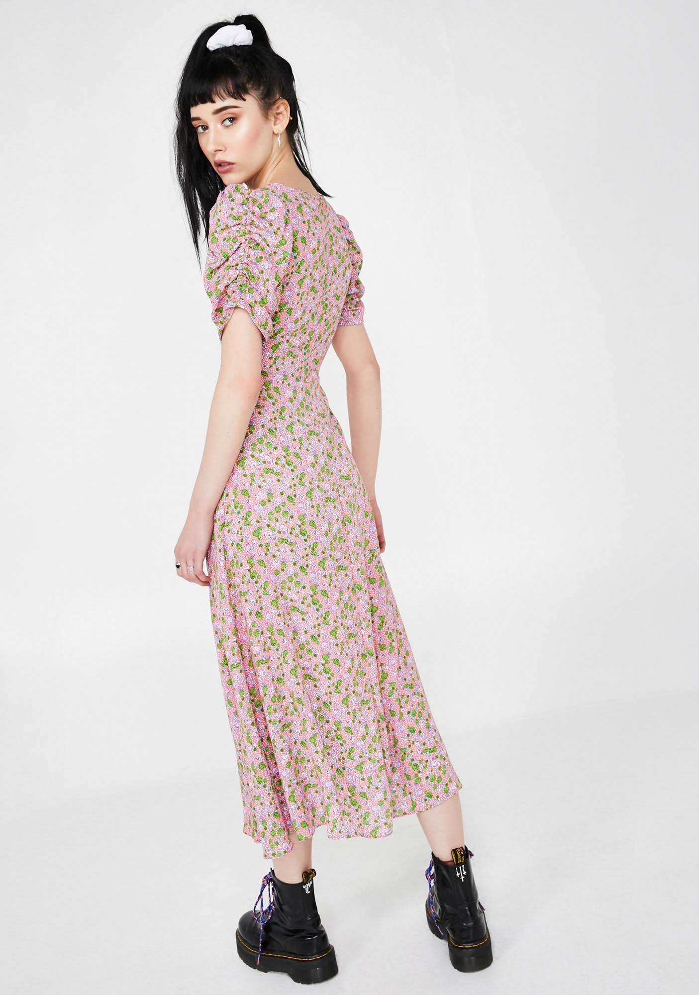 Molly Bracken Floral Midi Dress