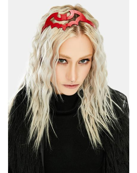 Red Bat Hair Headband