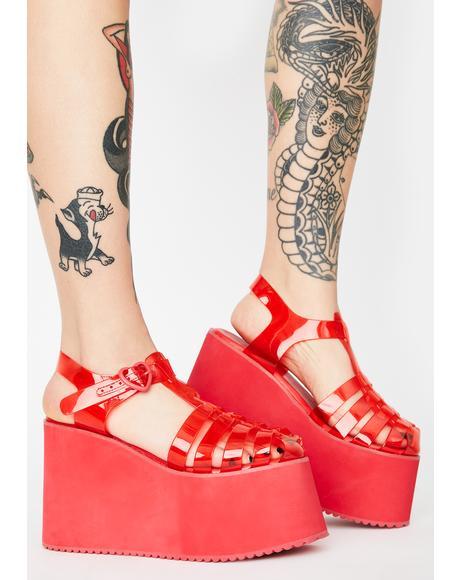 Cherry Sugar Rush Jelly Sandals