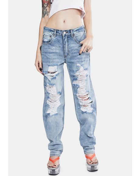 Indigo Raider Super Trash Rebound Mid Rise Jeans