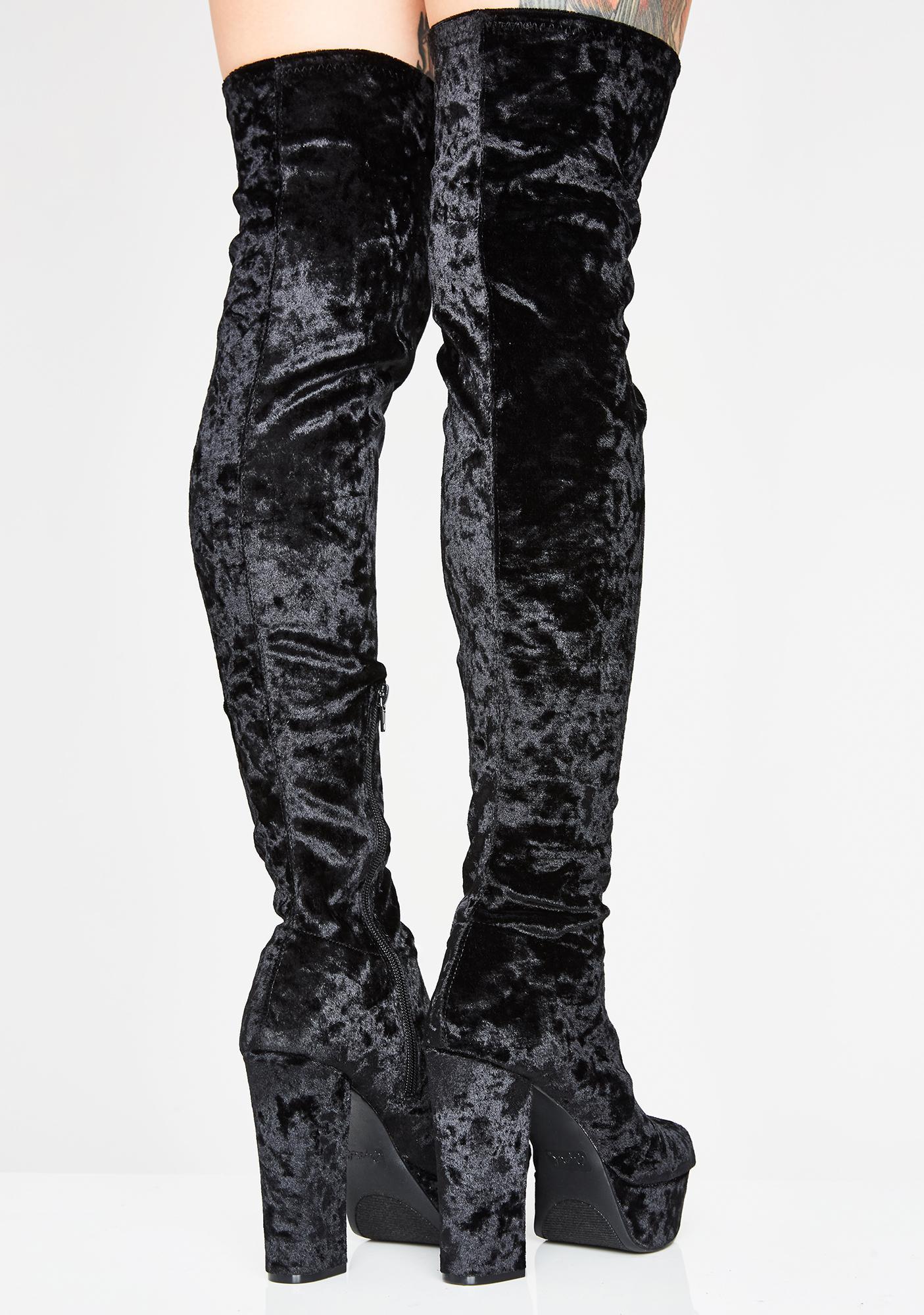 Goddess Rising Velvet Boots