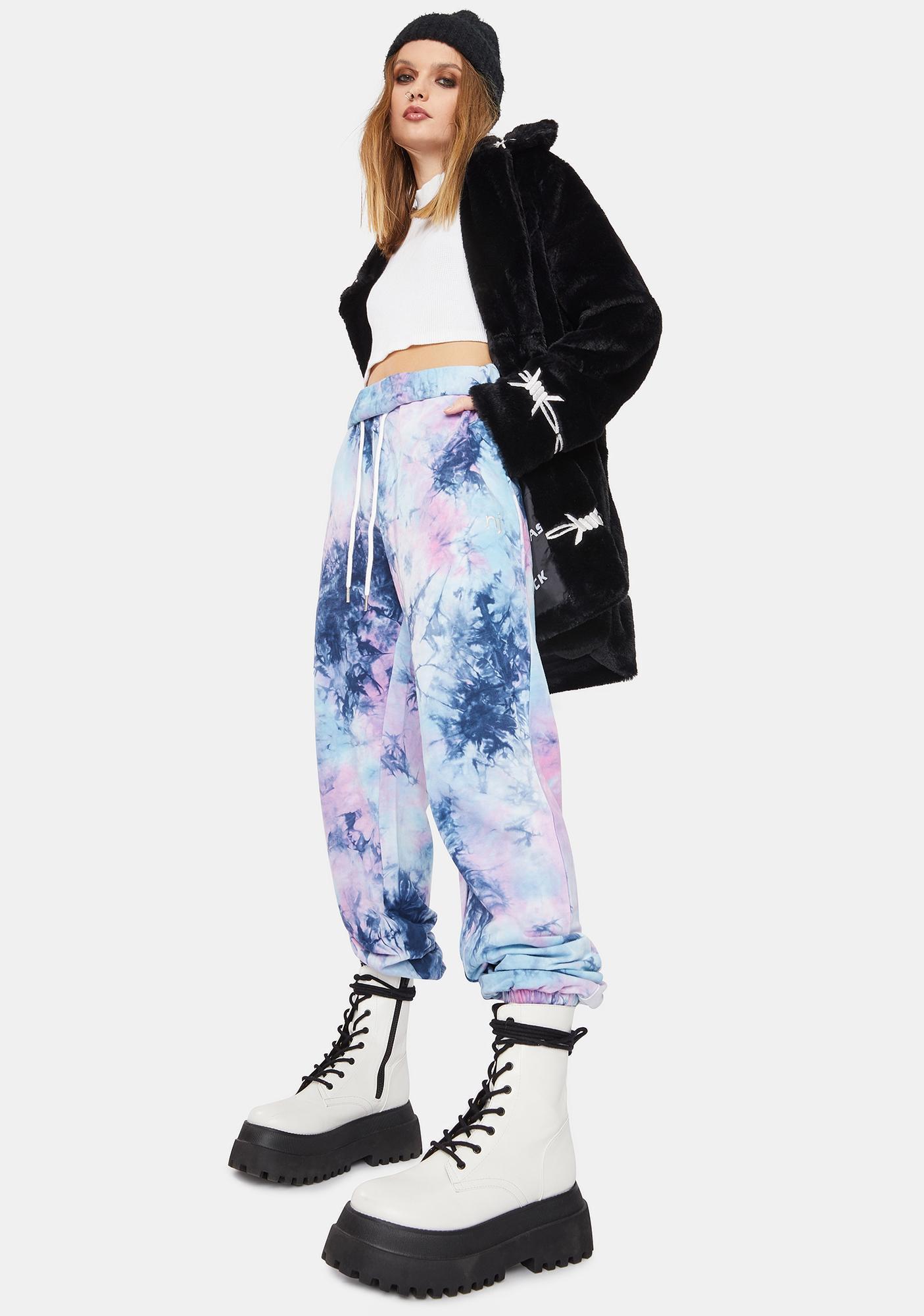 Nana Judy Platinum Tie Dye Authentic Track Pants