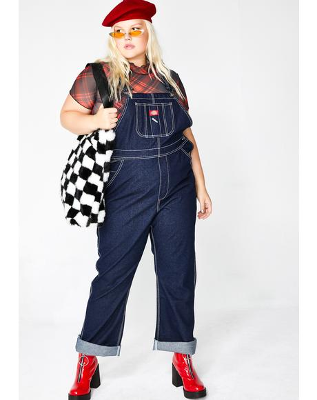 Denim Relaxed Overalls