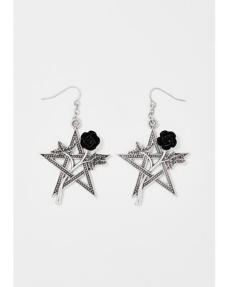 Botanic Magic Pentagram Earrings