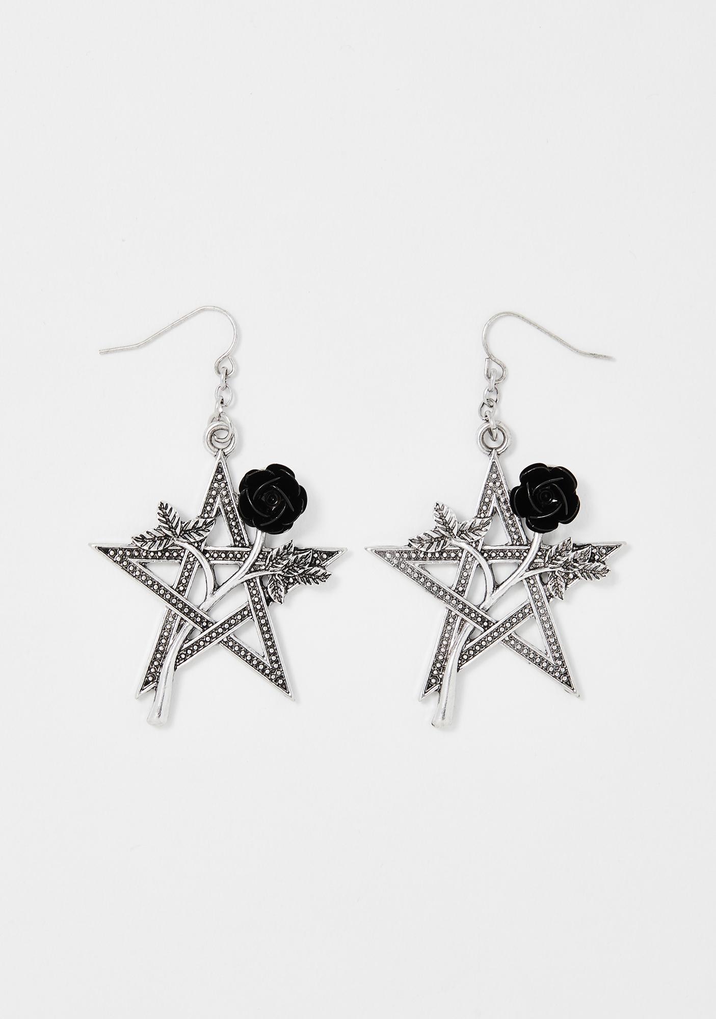 Botanic Magic Pentagram Earrings