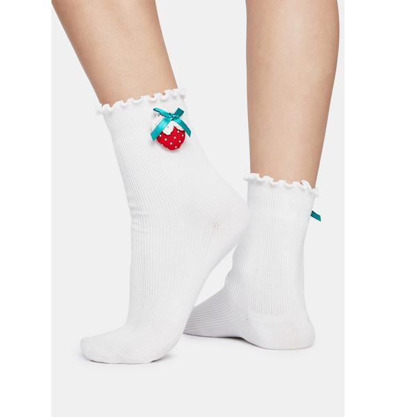 Sweetest Summer Strawberry Ankle Socks