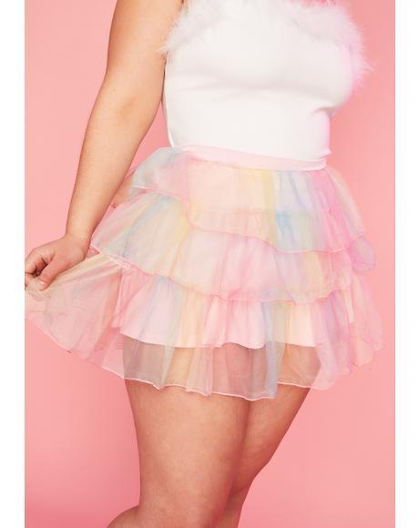Servin' Sweet Nectar Tulle Skirt