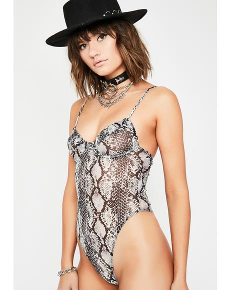 Vile Qween Snake Skin Bodysuit