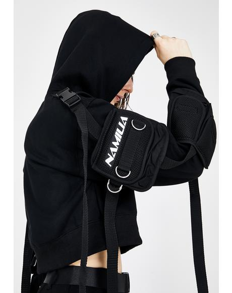 Crop Hoodie With Detachable Tactical Pocket Cage
