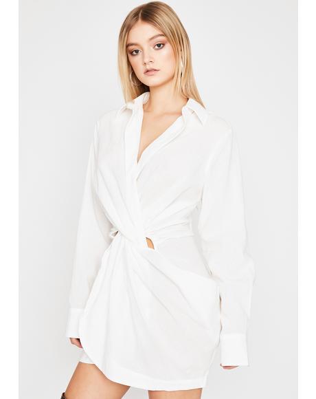 Sharp Remark Shirt Dress