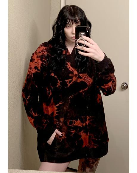 Devilish Dark Dreams Tie Dye Hoodie