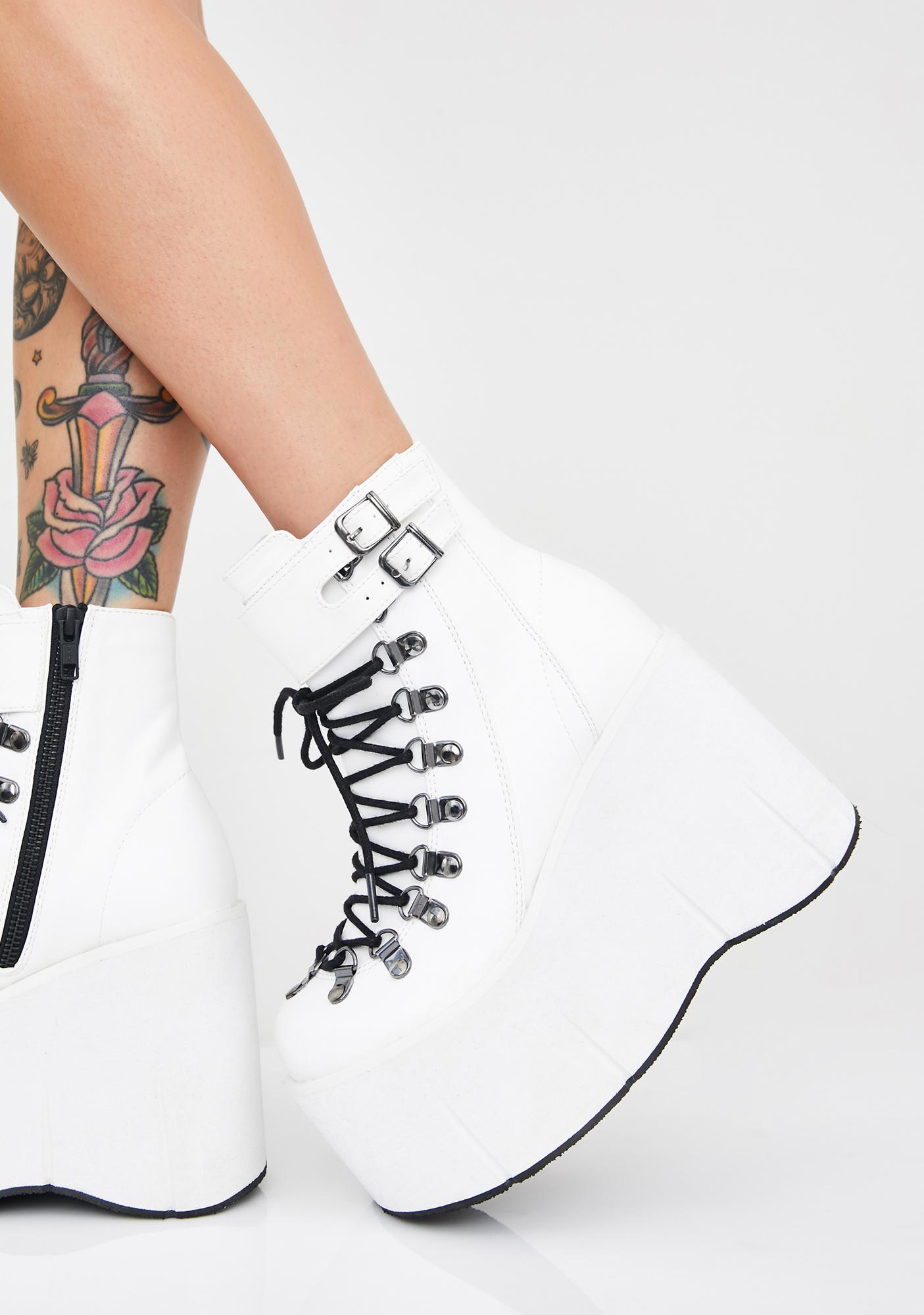 Demonia Pure Kera Lace-Up Platform Boots