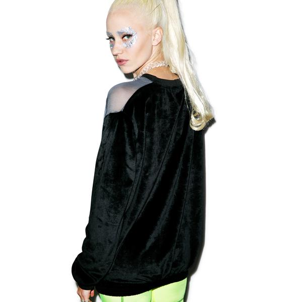 Coveted Society Space Trip Neon Dahp-E Crewneck