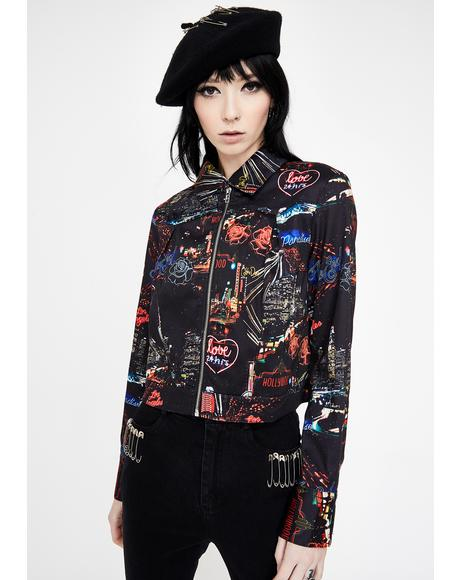 City Lights Of Paradise Zip Up Jacket
