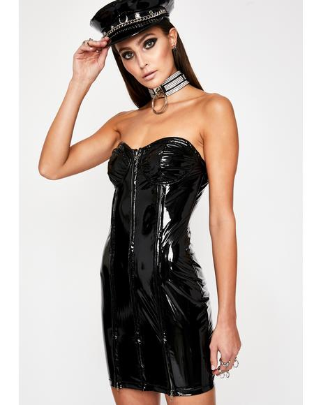 Queen Baddie Vinyl Dress