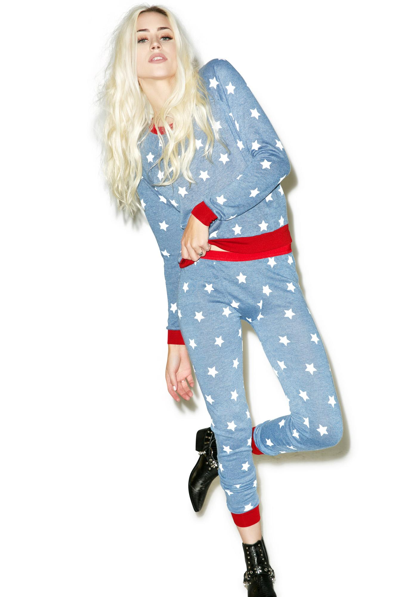 Mink Pink Head In The Stars Leggings
