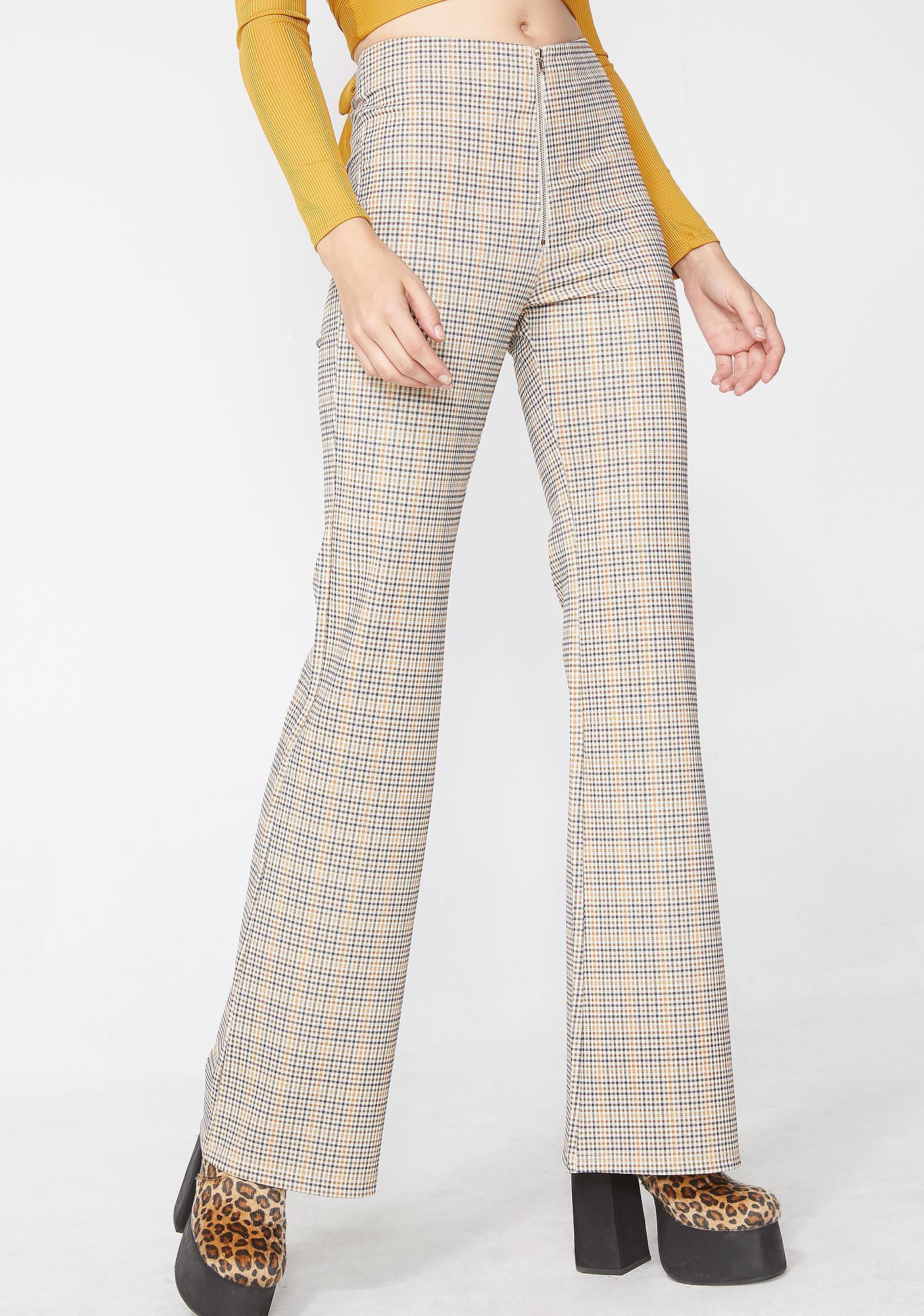 Music Club Plaid Pants