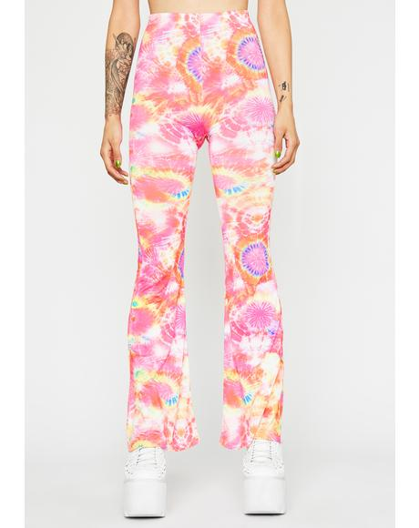 Dimensional Delirium Flared Pants