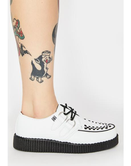 White Viva II Lace Up Creepers