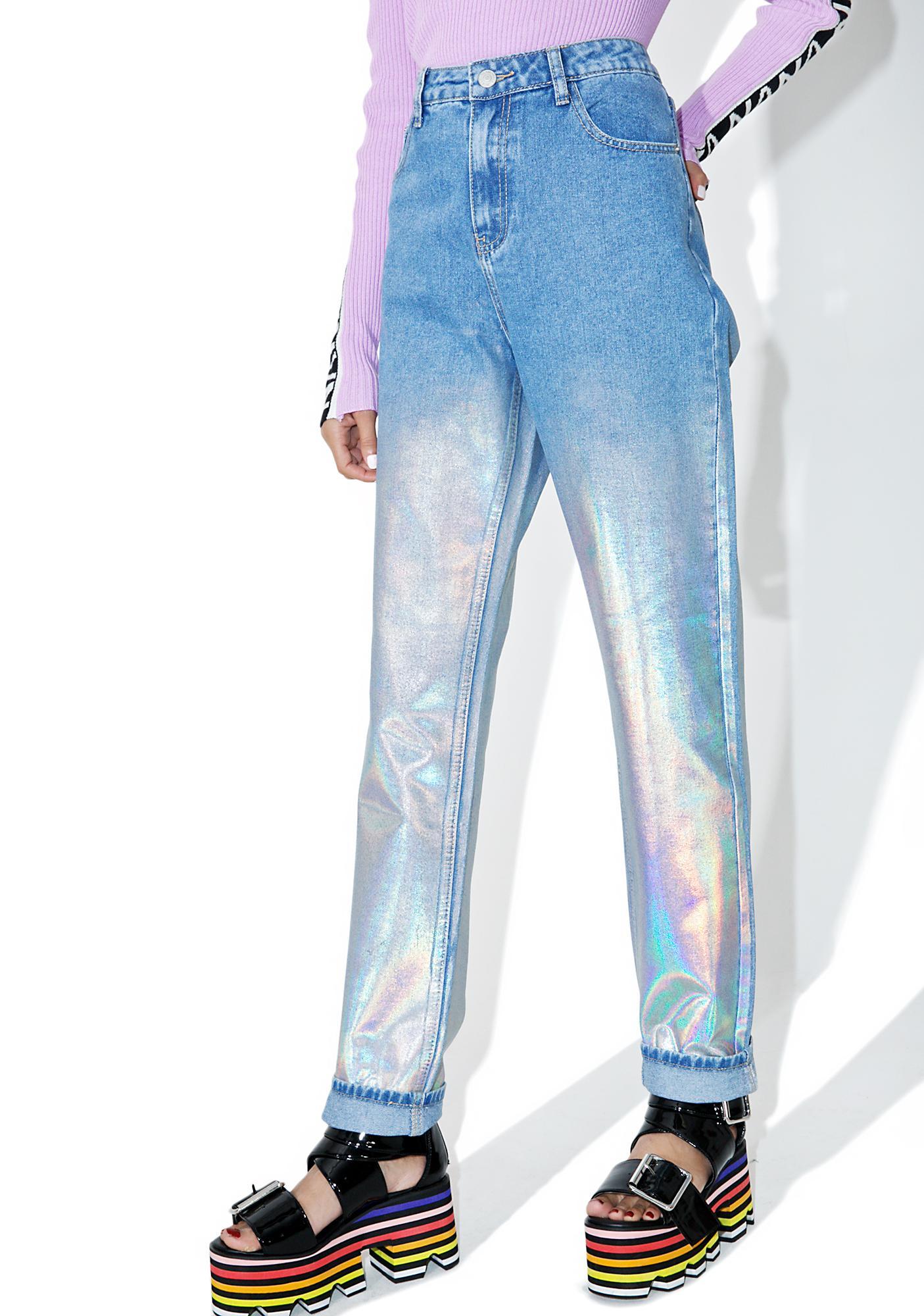 c032163e Glamorous Starcrush Holographic Jeans | Dolls Kill
