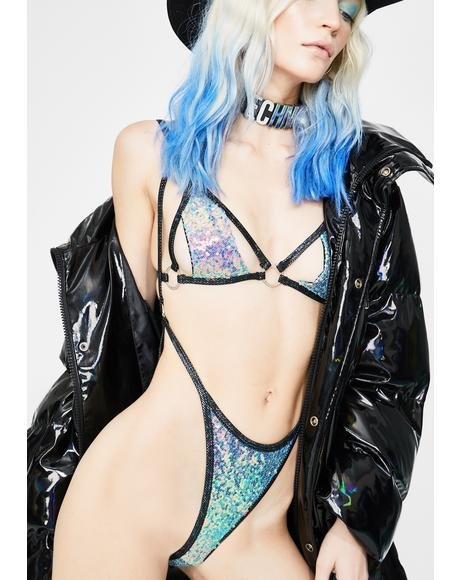 Water Opal Trinity Sequin Suspender Bottoms