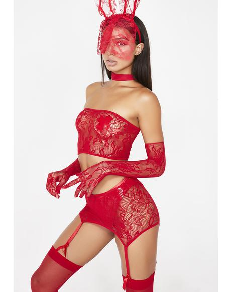 Santa's Naughty Helper Lace Set