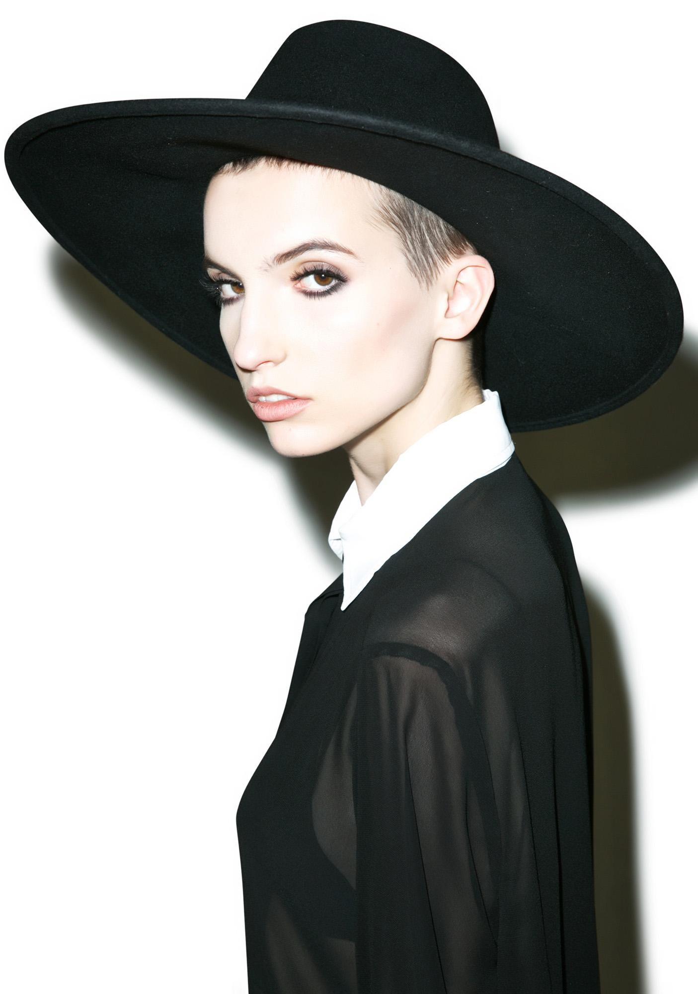 6150d87f82a2a ... Killstar Witch Brim Hat
