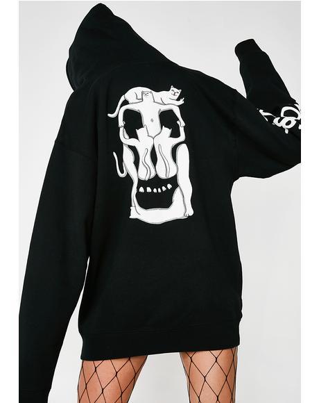 Nerm Skull Pullover Hoodie