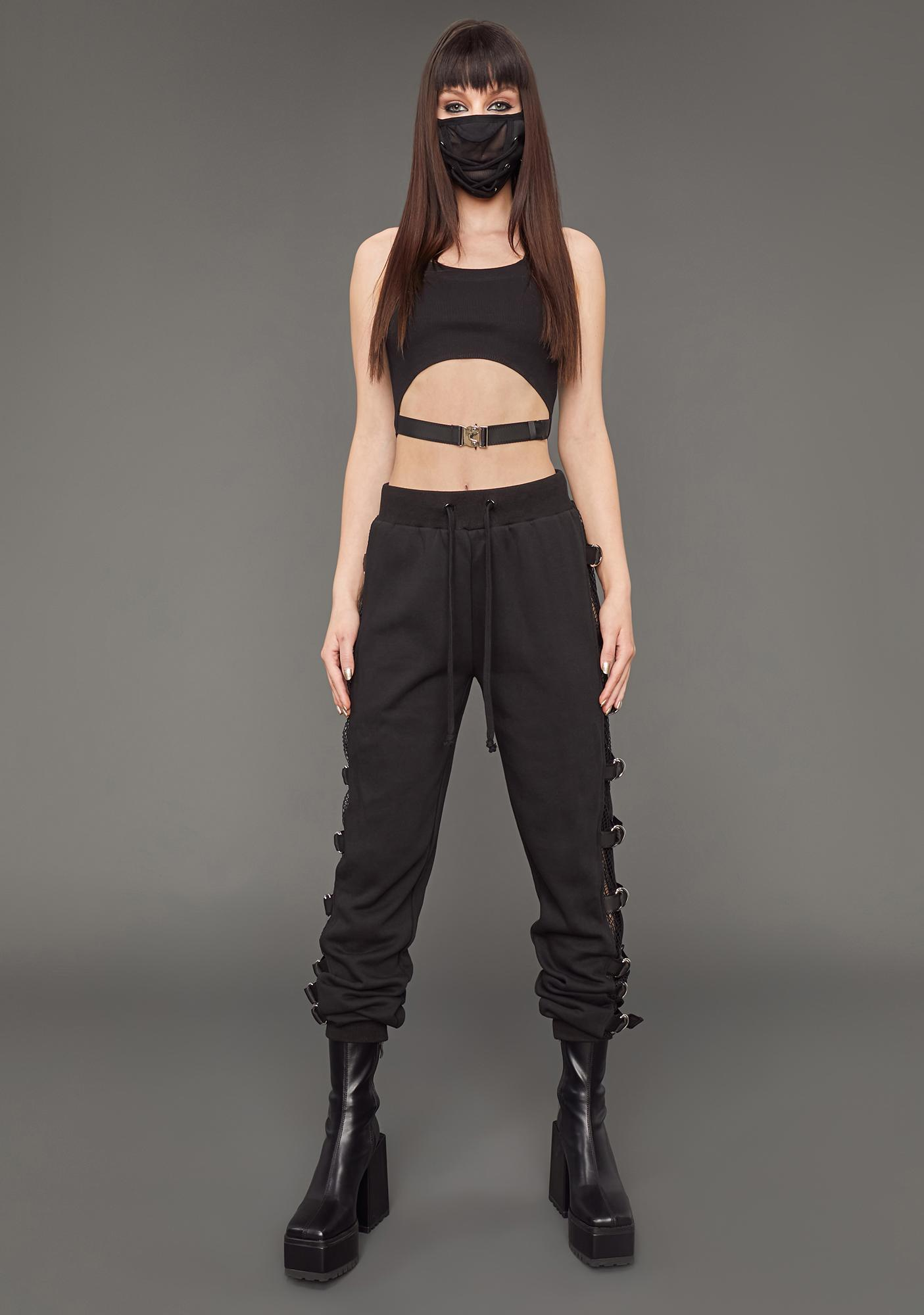Poster Grl No Time To Waste Buckle Sweatpants