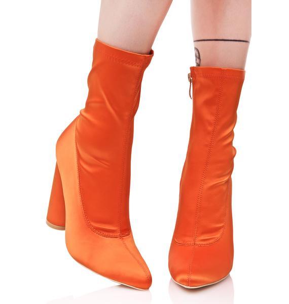 Sherbert Satin Boots