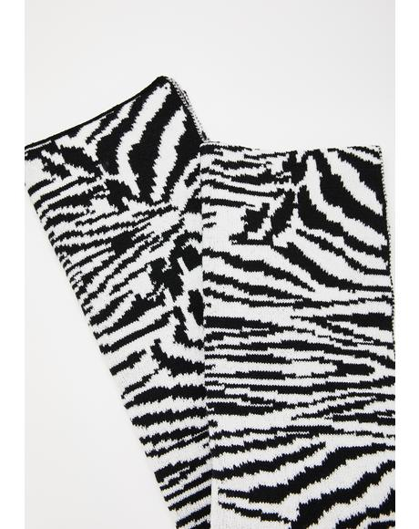 Safari Chic Zebra Print Scarf