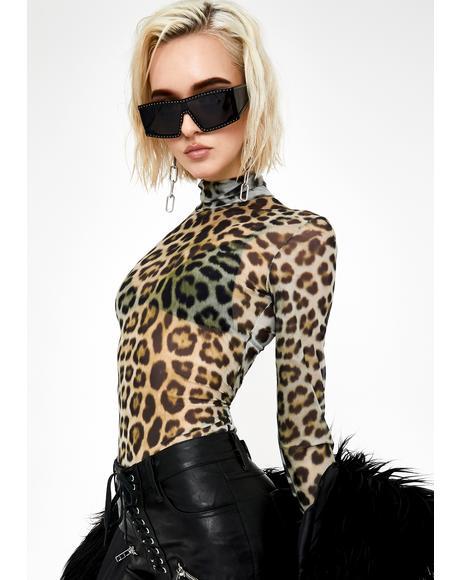 Dangerous Debutante Leopard Top