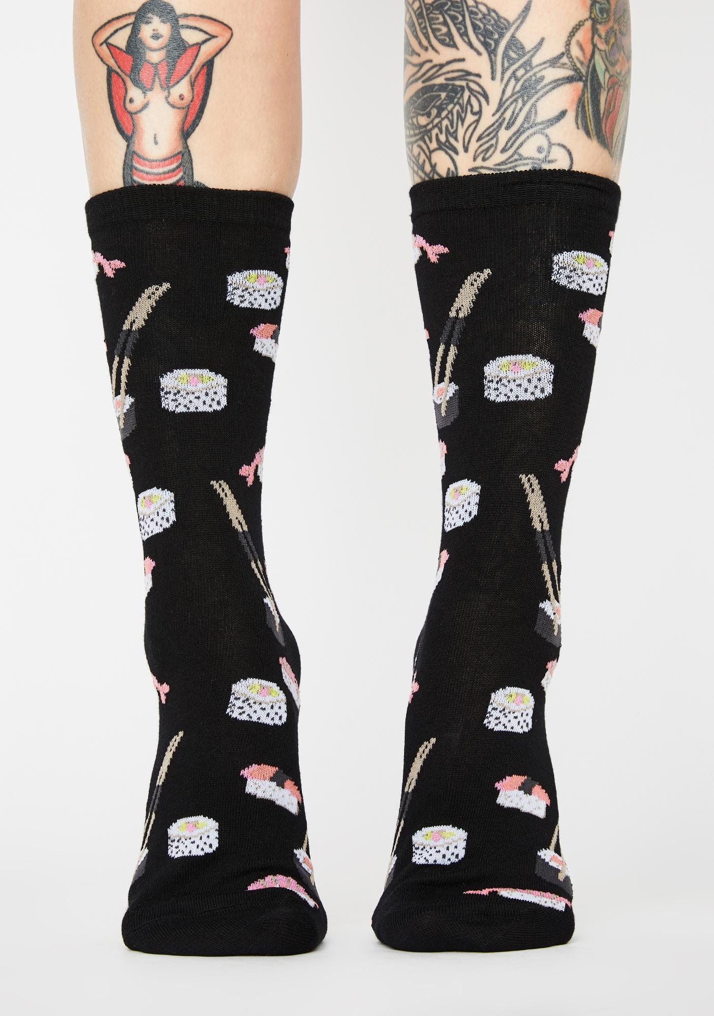 MeMoi Sushi Crew Socks
