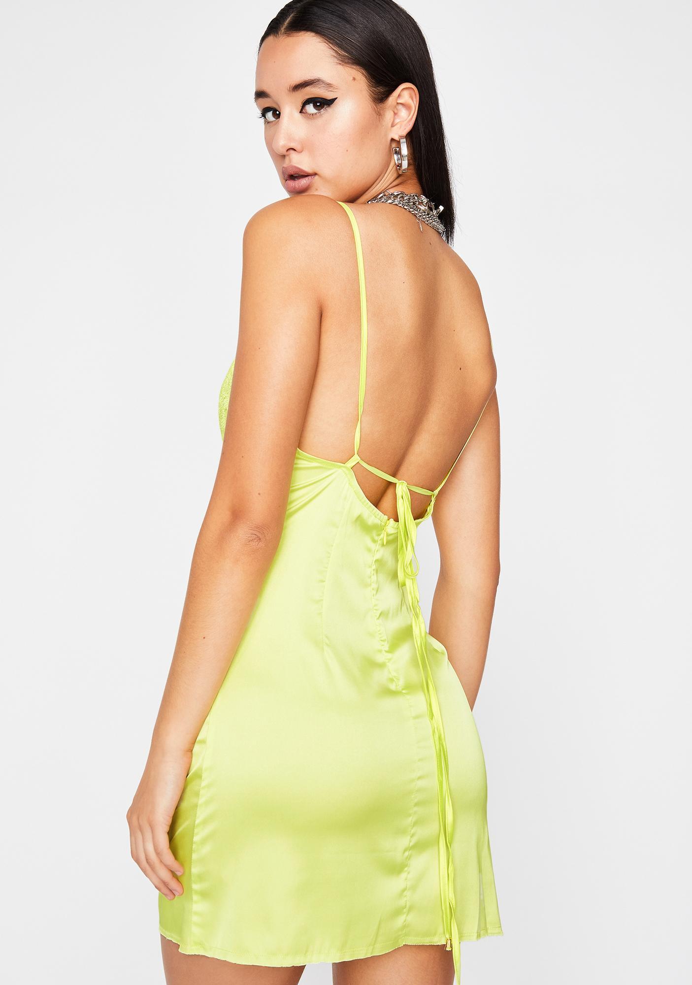 Starting Trouble Lace Slip Dress