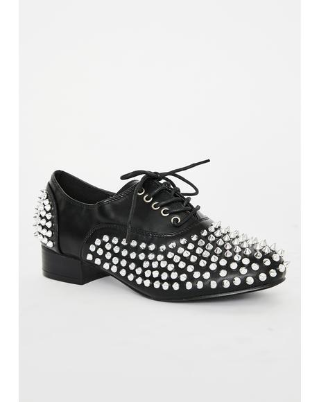 Tread Dangerously Spiked Oxfords