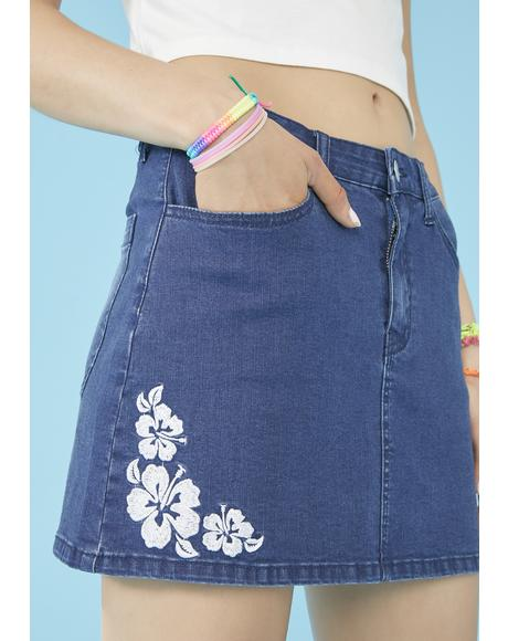 Destination Unknown Denim Skirt