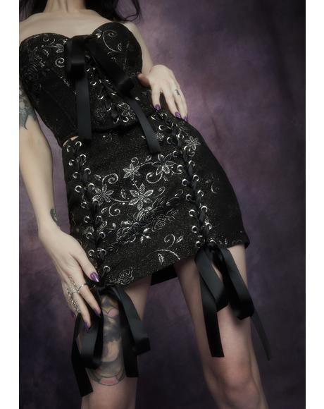 Night Music Brocade Skirt