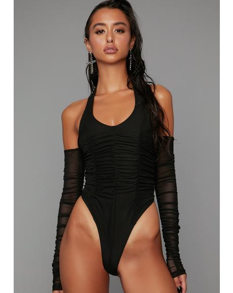 Look At Me Now Ruched Bodysuit