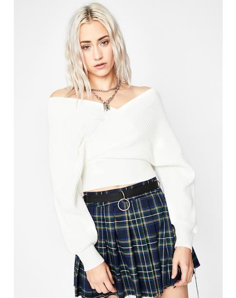 Untold Lies Crop Sweater